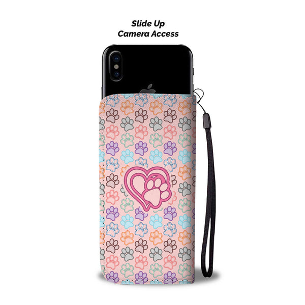 Dog Paw Heart • Wallet Phone Case • Free Shipping - Design Forms Of Art