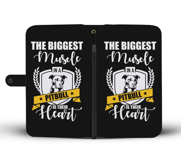 The Biggest Muscle In A Pitbull Is Their Heart • Free Shipping - Design Forms Of Art