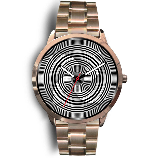 Hypno Circle Swirl • Custom Art Watches • Free Shipping - Design Forms Of Art