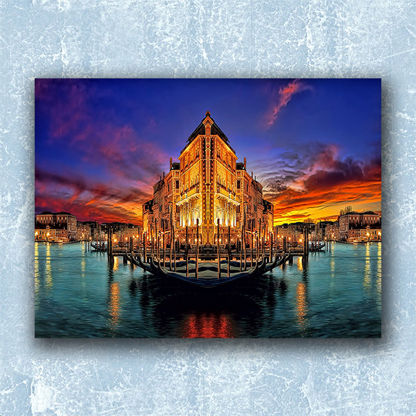 Venice Abstract Dream In The Night - Illustration - Design Forms Of Art