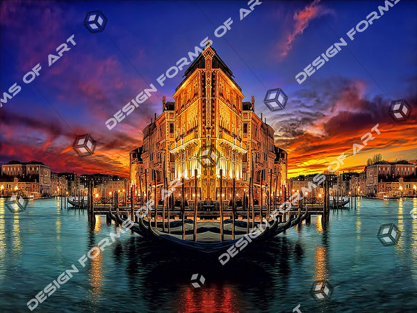 Venice Abstract Dream In The Night - Illustration