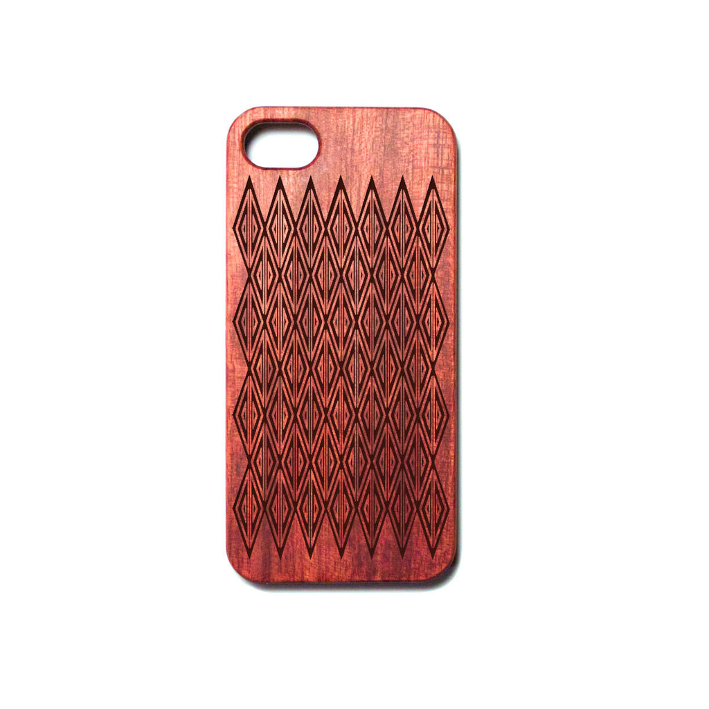 Romboids - Rosewood iPhone Case - Design Forms Of Art