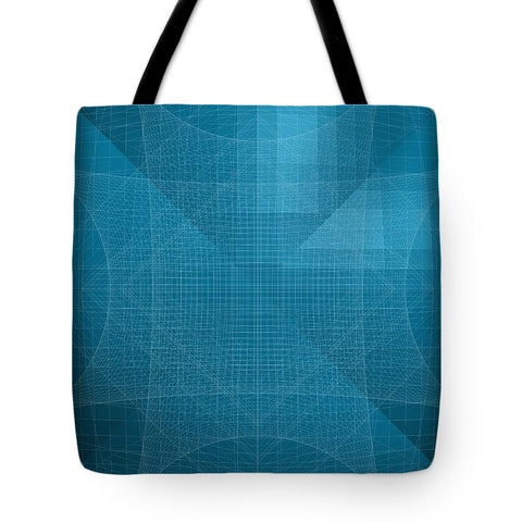 Blue Wire Net Structure  - Tote Bag - Design Forms Of Art