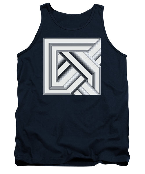 Black And White Art Nouveau Deco - Tank Top - Design Forms Of Art