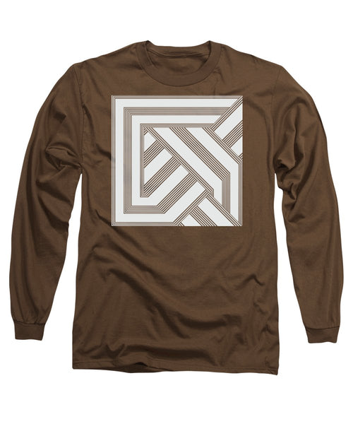 Black And White Art Nouveau Deco - Long Sleeve T-Shirt - Design Forms Of Art