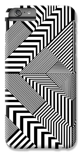 Black And White Art Nouveau Deco - Phone Case - Design Forms Of Art