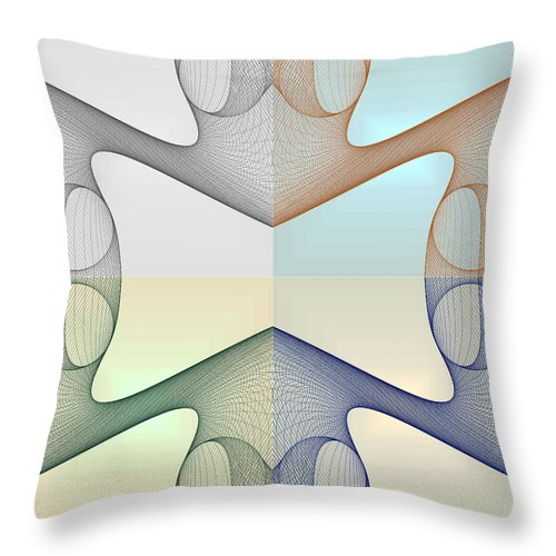 Foursome Shapeallization - Throw Pillow - Design Forms Of Art