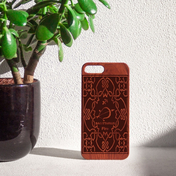 Zodiac SAGITTARIUS - Rosewood iPhone Case - Design Forms Of Art