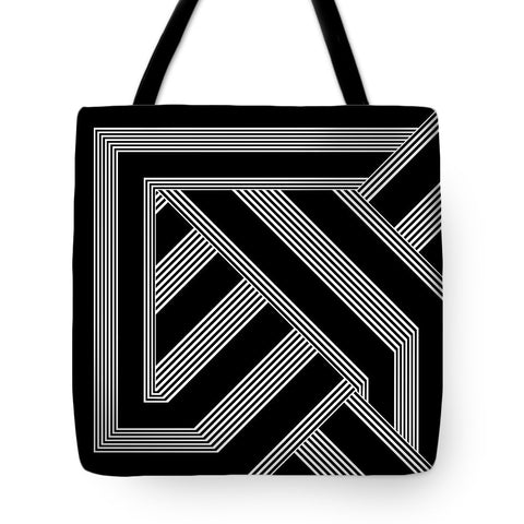 Black And White Art Nouveau Deco - Tote Bag - Design Forms Of Art
