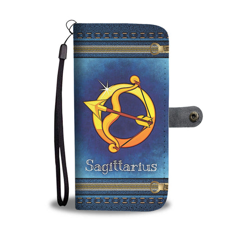 SAGITTARIUS Sign • Wallet Phone Case • Free Shipping - Design Forms Of Art