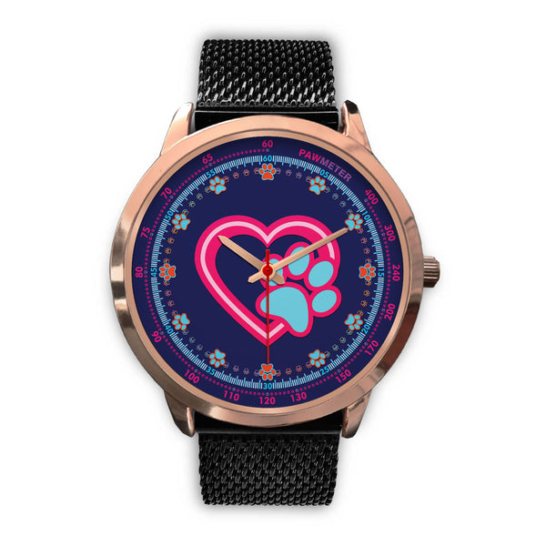 Dog Paw In Heart B • Luxury Art Watch - Design Forms Of Art