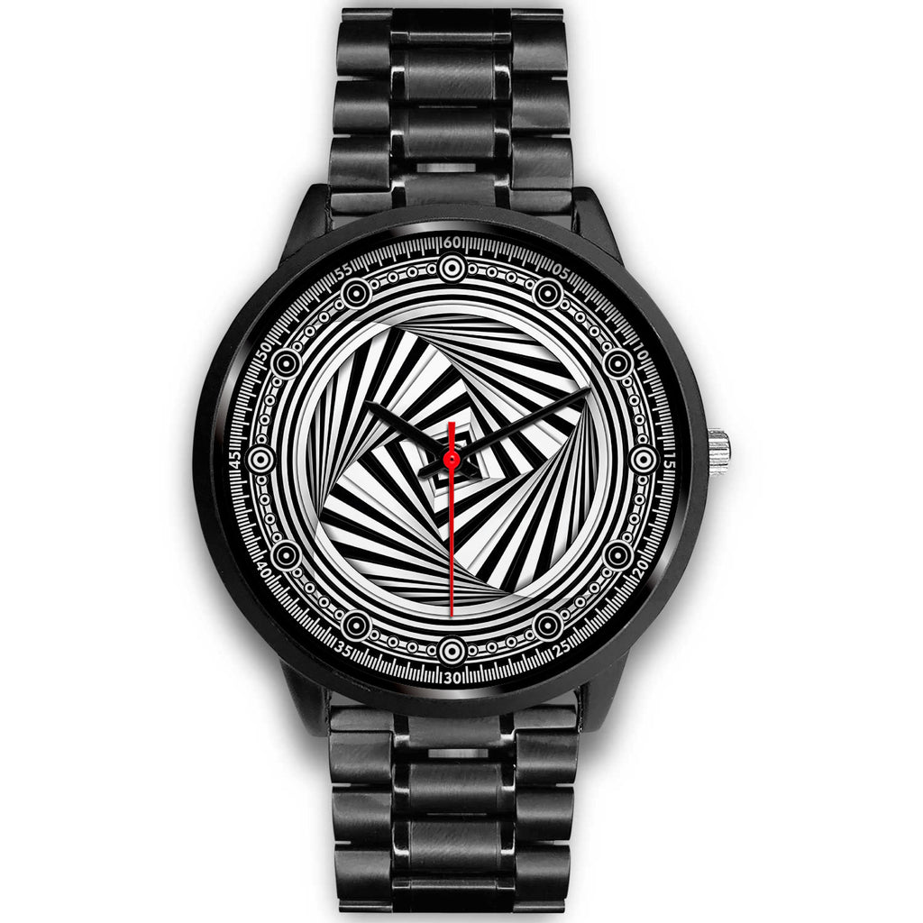 Hypno Swirl Square - A • Luxury Art Watch • Free Shipping