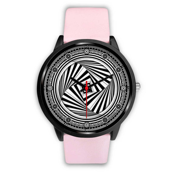Hypno Swirl Square - A • Luxury Art Watch - Design Forms Of Art