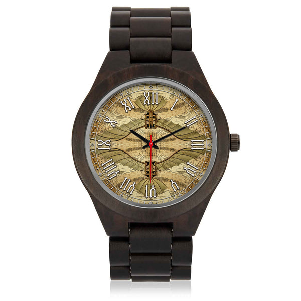 Leonardo Da Vinci • Vitruvian Man Glider - A • Photo Engraved Wood Watch - Design Forms Of Art
