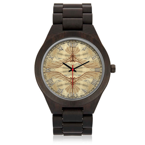 Leonardo Da Vinci • Vitruvian Man Glider - B • Photo Engraved Wood Watch - Design Forms Of Art