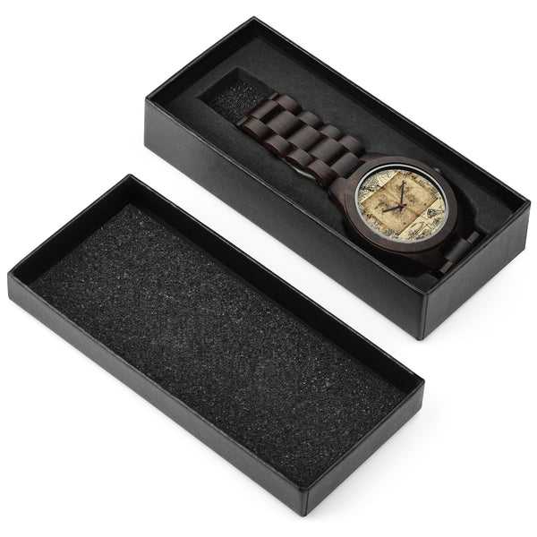 Leonardo Da Vinci • Portrait • Photo Engraved Wood Watch - Design Forms Of Art