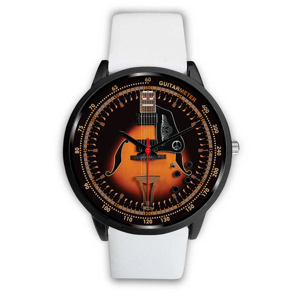 Electric Guitar - Ibanez • BLACK • Luxury Art Watch - Design Forms Of Art