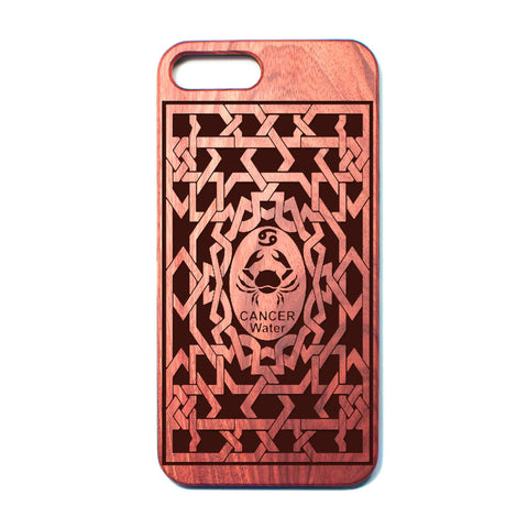 Zodiac CANCER - Rosewood iPhone Case - Design Forms Of Art