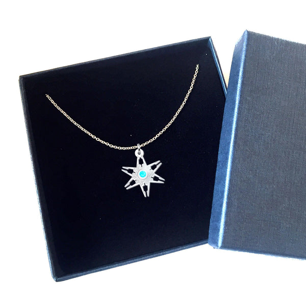 Hexa Six Star With SWAROVSKI Rhinestones • Charms & Chains - Design Forms Of Art