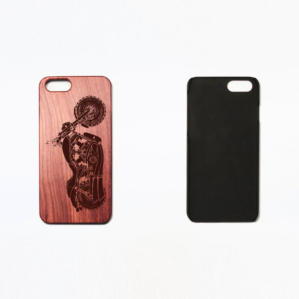 Motorcycle - Rosewood iPhone Case - Design Forms Of Art