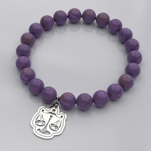Zodiac LIBRA – Air Sign • Bead Stone Bracelet - Design Forms Of Art