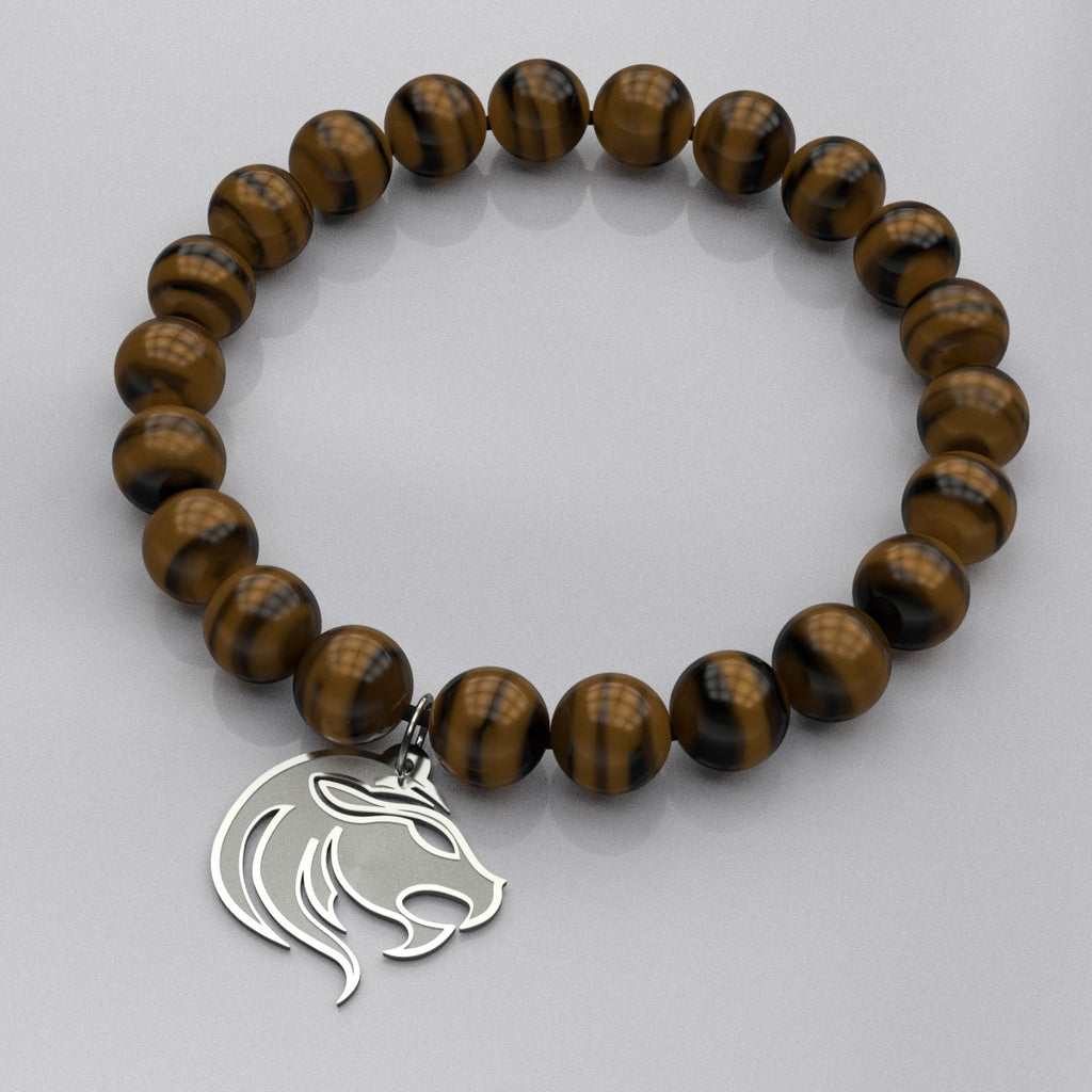 Zodiac LEO • Fire Sign • Bead Stone Bracelet - Design Forms Of Art