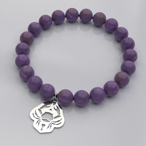 Zodiac CANCER - Water Sign • Bead Stone Bracelet - Design Forms Of Art