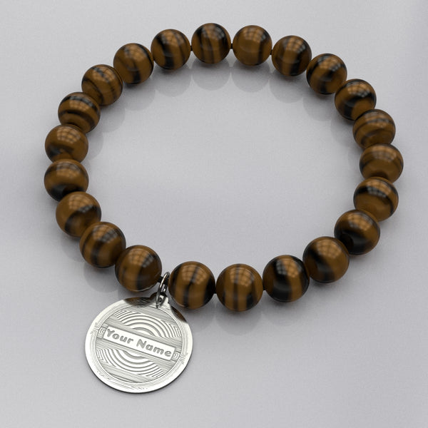 Tribal Medallion • Bead Stone Bracelet
