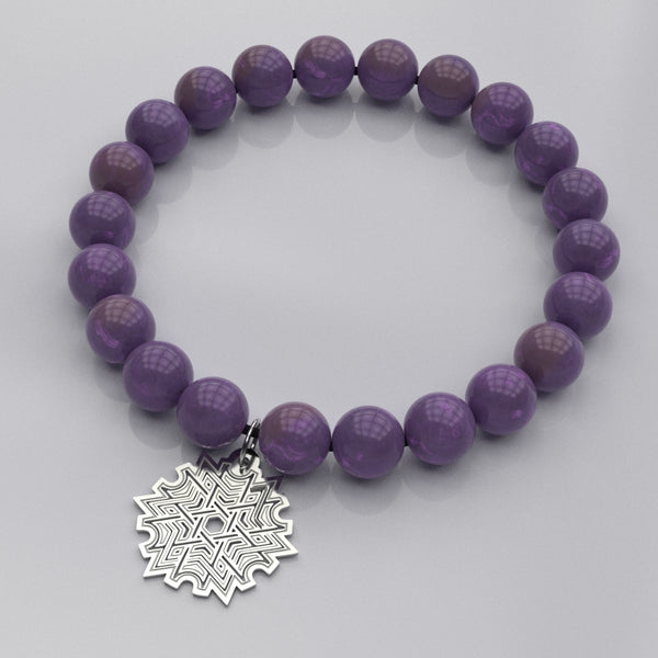 Knot Star A • Bead Stone Bracelet - Design Forms Of Art