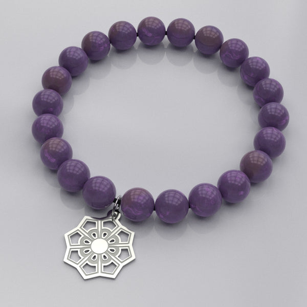 Flower • Bead Stone Bracelet - Design Forms Of Art