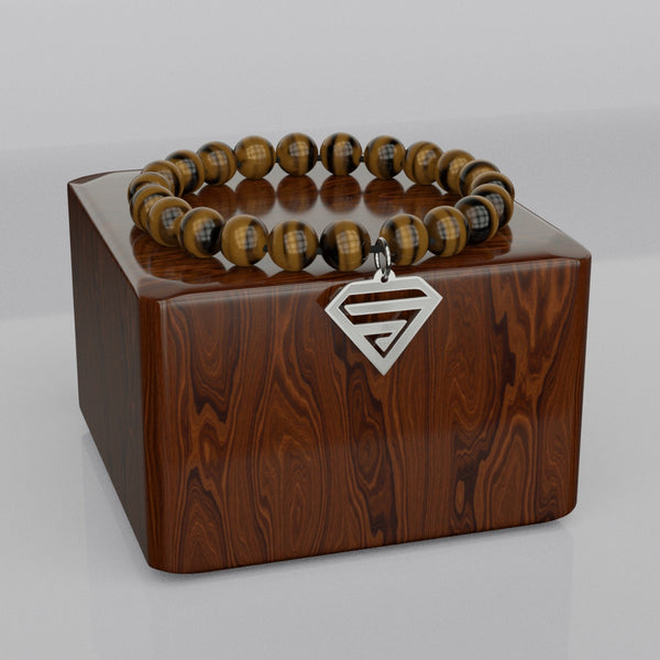 SUPERHERO Sign • Bead Stone Bracelet
