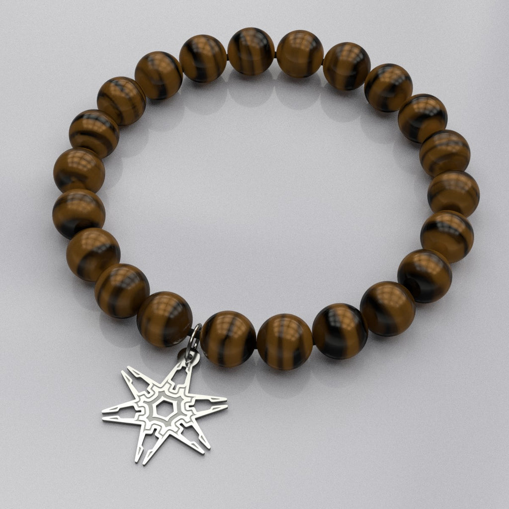 Hexa Six Star A • Bead Stone Bracelet - Design Forms Of Art