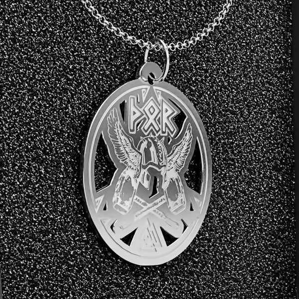 Thor Helmet Medallion • Charms & Chains • Free Shipping - Design Forms Of Art