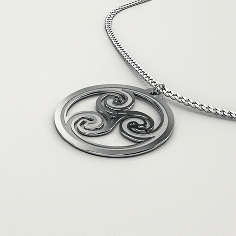 Celtic Spiral Knot Medallion B • Charms & Chains • Free Shipping - Design Forms Of Art