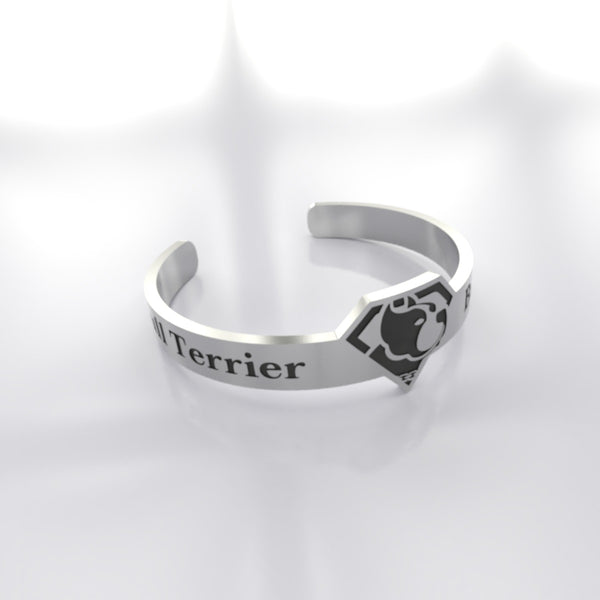 Dog • Bull Terrier - Custom RING - Design Forms Of Art