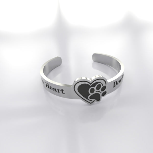 Dog Paw In Your Heart - B • Custom RING - Design Forms Of Art