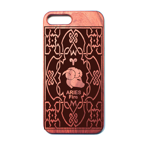 Zodiac ARIES - Rosewood iPhone Case - Design Forms Of Art