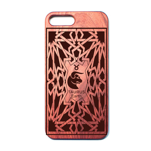 Zodiac TAURUS - Rosewood iPhone Case - Design Forms Of Art