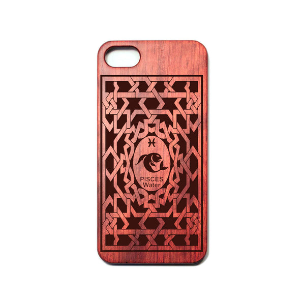 Zodiac PISCES - Rosewood iPhone Case - Design Forms Of Art