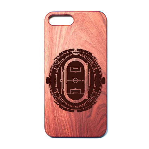 Football Soccer Stadium - A - Rosewood iPhone Case - Design Forms Of Art