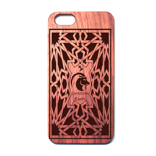 Zodiac CAPRICORN - Rosewood iPhone Case - Design Forms Of Art