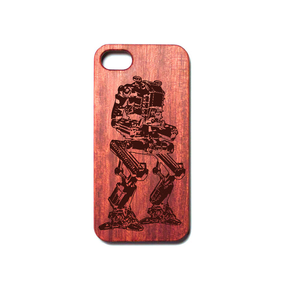 Battle Combat Robot - Rosewood iPhone Case - Design Forms Of Art
