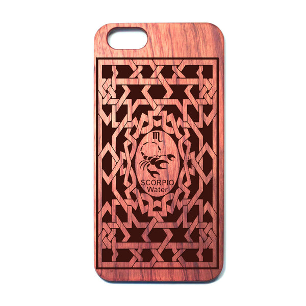 Zodiac SCORPIO - Rosewood iPhone Case - Design Forms Of Art