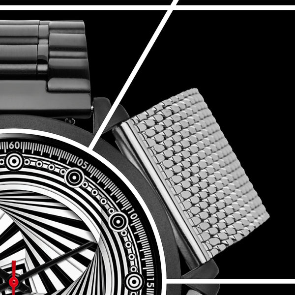 Hypno Swirl Square - A • Luxury Art Watch