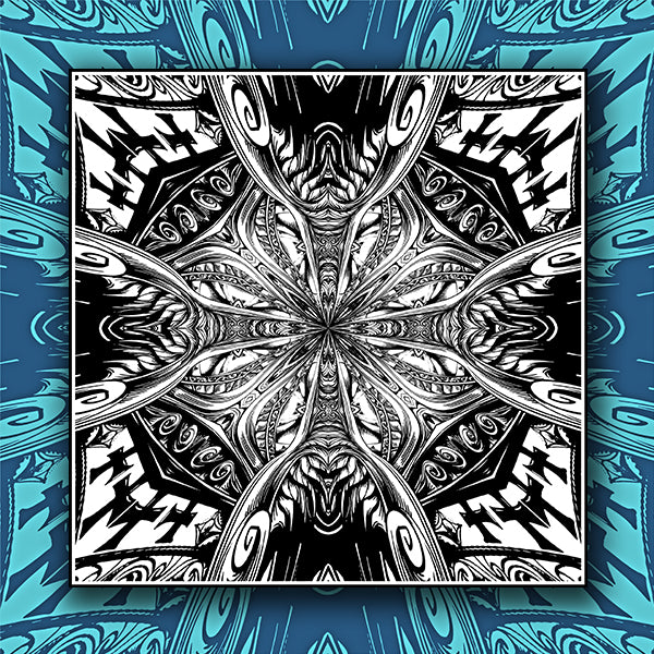 Abstract Cross Pattern Kaleidoscope Background 01 - Vector - Design Forms Of Art