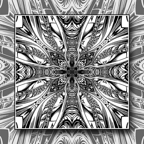 Abstract Cross Pattern Kaleidoscope Background 05 - Vector - Design Forms Of Art