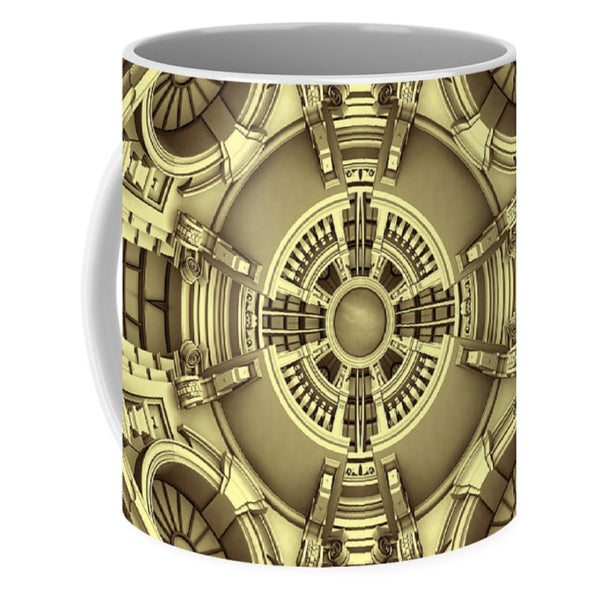 Abstract Eclectic House Interior Of Roof 01 - Mug - Design Forms Of Art