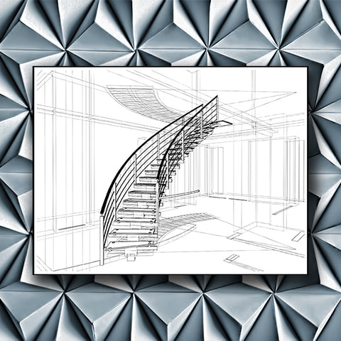 Spiral Staircases Structure Constructions Of Line 01 - Vector