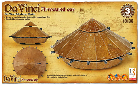 Da Vinci - Armoured Car - Educational Model - Design Forms Of Art