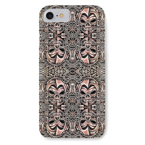 Azstecs Skull Wall  - Phone Case - Design Forms Of Art